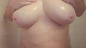 My big tits kept distracting me in the..