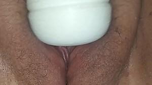 Cumming on her Hitachi Again