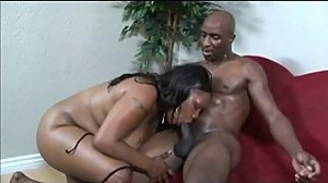 Black Chick Sucks Big Dick gets Pussy..