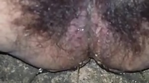 Hairy BBW Ex-Gf Pissing Off Her Back Porch
